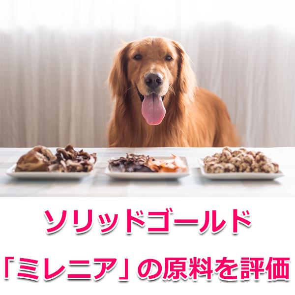犬用ソリッドゴールド「ミレニア」の原料を評価