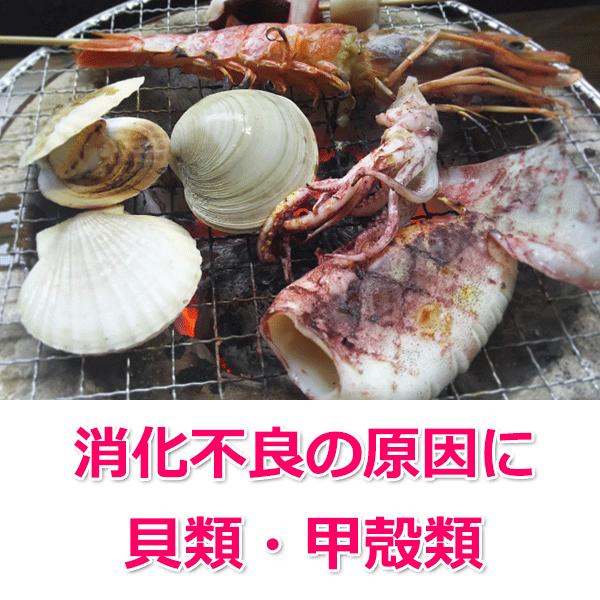 貝類や甲殻類